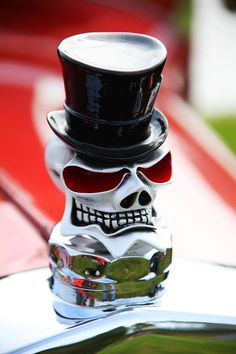 Skull With Top Hat Hood Ornament Photograph - Skull With Top Hat Hood Ornament Fine Art Print..Re-pin....Brought to you by Agents of #CarInsurance at #HouseofinsuranceEugene
