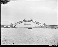Sydney Harbour Bridge under construction 1930 [2611 x 2126]