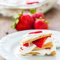 #delicious Strawberry Icebox Cake #foodie