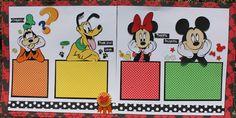 Goofy, Pluto, Minnie and Mickey layout