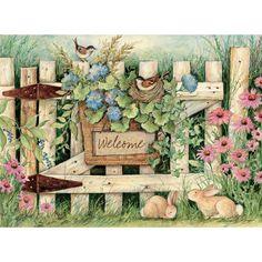Lang Welcome Large Guest Book by Susan Winget, x Inches Lang Guest Books feature full-color art from your favorite artist making them suitable for any occasion. A guest book filled with good wishes is a one-of-a-kind heirloom to hold memories. Art Fantaisiste, Image Nature, Country Art, Garden Gates, Whimsical Art, Goblin, Painted Rocks, Note Cards, Coloring Pages