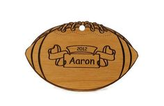 Football  Personalized Wood Ornament by gclasergraphics on Etsy, $9.95 #pcfteam