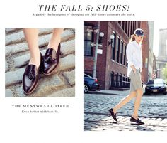 Menswear loafer for women - love!
