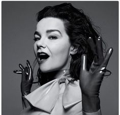 Mel Ottenberg Styles Björk In Latex Syren Top & Gloves For T: The NYTimes Style Magazine Cover - Creative Jenius Report Cool Attitude, Photo Star, New York Times Magazine, Latex Gloves, Olivia Black, T Magazine, Human Emotions, Her Music, Ny Times