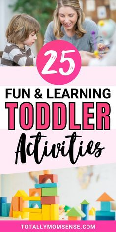 Activities! Aren't they the best way to keep kids occupied for long while you can get some time for yourself? It can help a child escape boredom, teach new skills, entertain them, help you bond with your kids and also help escape sibling rivalry. In this post, you will find 25 fun & learning activities for toddlers that require minimal setup, are easy to do and teaches kids important life skills like sensory development, motor skills, creativity & a lot more. #toddleractivities Outdoor Activities For Toddlers, Toddler Learning Activities, Parenting Toddlers, Infant Activities, Fun Learning, Teaching Kids, Parenting Tips, Music Activities, Teaching Resources
