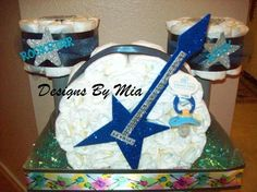 Diaper Cake - Basically the only kind of drum set to have with a new baby at home. @BabyCenter