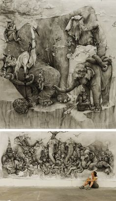 AMAZING PENCIL WORKS BY ADONNA KHARE--This is amazing! I'd love to see it in person.......
