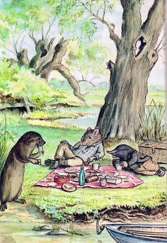 The Wind in the Willows- delightful for both children and adults!  A great read on a lazy summer day!