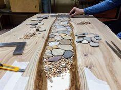 Creek Table – Crafts Keep You Sane – New Epoxy Diy Resin Table, Epoxy Wood Table, Epoxy Resin Table, Epoxy Table Top, Table Diy, Wood Slab Table, Resin Crafts, Resin Art, Wood Crafts
