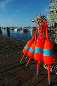 Lobster bouys, Cape Porpoise