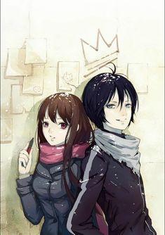 Iki Hiyori x Yato - Noragami Yato X Hiyori, Noragami Anime, Yatori, Otaku, Romance, Anime Couples, Great Friends, Boku No Hero Academia, Fan Art