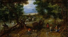 A Woodland Road with Travelers, Brueghel.  Met public domain collection - high resolution images for personal use.