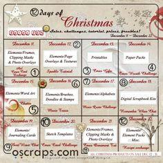 **Holiday Party Calendar of Events** - Forum :: Oscraps.com Come to our Christmas Party!!