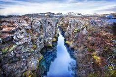 Rift Zone Stream, Þingvellir (Thingvellir) National Park, Iceland
