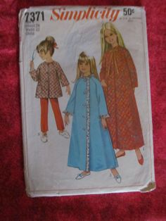 1960's Simplicity Sewing Pattern 7371 Size 6 Girls by EarthToMarrs, $5.00
