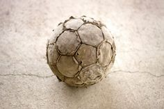 At which point you'd graduate to a real ball that had lost all its leather.