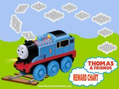 Free printable Thomas and Friends Reward Chart. Many more free printable reward charts for kids on this site. Potty Training Reward Chart, Potty Training Boys, Toilet Training, Training Tips, Train Activities, Toddler Activities, Family Activities, Toddler Chores, Reward Chart Kids