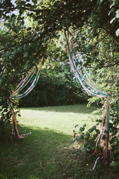 The Natural Wedding Company - Natural Wedding Co: the online directory for eco-friendly, seasonal, vintage and handmade weddings - A pretty ribboned entrance way for an outdoor wedding ceremony - Wedding Ceremony Ideas, Wedding Renewal Vows, Wedding Entrance, Outdoor Ceremony, Wedding Themes, Ceremony Arch, Reception, Wedding Props, Wedding Ceremonies