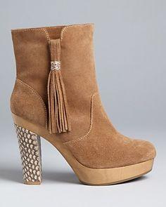 Rebecca Taylor Platform Heel Booties - Dita | Bloomingdale's