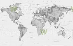 Stylish world map in water color this popular print in gray and black white relief world map gumiabroncs Image collections