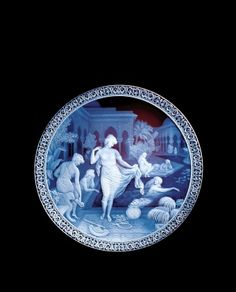 Moorish Bathers, George Woodall and Thomas Webb and Sons, Amblecote, England, Bequest of Juliette K. From The Cameo Glass Collection of Leonard S. Rakow and Juliette K. Cut Glass, Glass Art, Glass Plaques, Corning Museum Of Glass, Corning Glass, Objet D'art, Moorish, Glass Etching, Gods And Goddesses