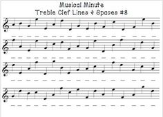 Musical Minute. musical minute treble clef