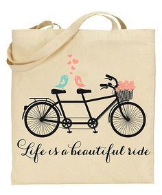 Look at this Life is a Beautiful Ride Market Tote on #zulily today!