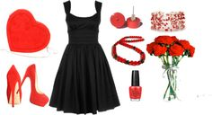 """""""Black and Red"""" by purplesmoothiee on Polyvore"""