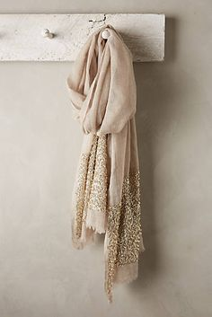 sparkly silk scarf!