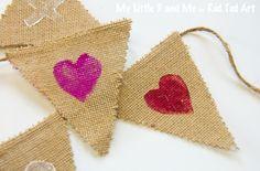 No-Sew Potato Print Valentine Bunting