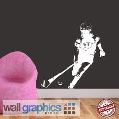 Items similar to Camogie Player GAA Gaelic Removable Wall Graphic / Sticker / Poster on Etsy Removable Wall, Poster On, Hurley, Wall Stickers, Grass, Ireland, Projects To Try, How To Remove, Graphics