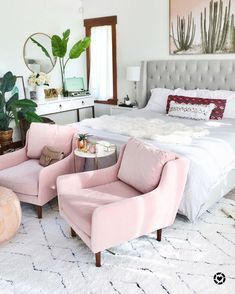Blush Pink Chairs room • ideas for teens & adults • girls baby room • light pastel, plae, blush, soft rose, dusky • hot trends
