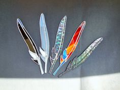 Stained glass feather mascote complement Transparent by caracoja