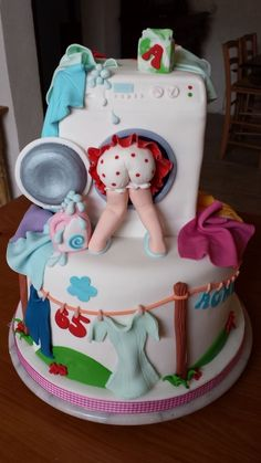 Elegant Image of Cakes For Birthday . Cakes For Birthday Kuchen Laundry Cake Birthday Cakes 2722867 Weddbook cake decorating recipes kuchen kindergeburtstag cakes ideas Pretty Cakes, Cute Cakes, Yummy Cakes, Fondant Cakes, Cupcake Cakes, Funny Cake, Happy Birthday Cakes, Cake Birthday, Amazing Birthday Cakes
