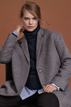 Wardrobe essentials in premium quality, including cashmere coats, wool knits, tuxedo jackets, silk T-shirts, leather jackets and trendy slip dresses. | H&M Fall/Winter
