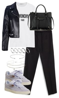 """Untitled #3877"" by theeuropeancloset on Polyvore featuring Zara, Givenchy, Puma, Balenciaga, ASOS and Yves Saint Laurent"