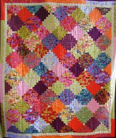 Courthouse Steps by Yvette Gaillou, Kaffe Fassett fabrics