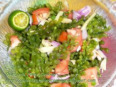 Kinilaw na Lato Filipino Dishes, Filipino Recipes, Filipino Food, Calamansi Juice, Eat Me Drink Me, Sisig, Fish And Meat, Pinoy Food, Fabulous Foods