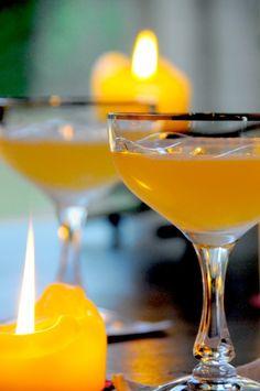Between the Sheets cocktail - Cognac, Rum Triple Sec, Lime