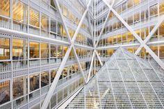 Interior detail of The Hague City Hall by Rudy Uytenhaak