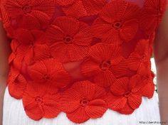 Топ из цветочков крючком (Вязание крючком) | Журнал Вдохновение Рукодельницы