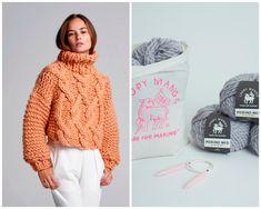 DIY Kit - Cropped Urban Fisherman Sweater - Merino No. 5