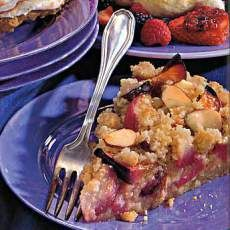 Plum Tart with Marzipan Crumble from Epicurious
