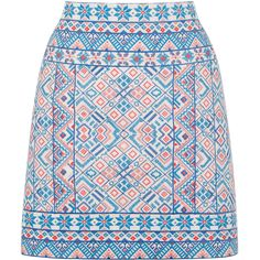 OASIS Embroidered Poppy Skirt (98 AUD) ❤ liked on Polyvore featuring skirts, bottoms, gonne, print, multi, mini skirt, embroidered mini skirt, summer mini skirts, embroidered skirt and summer skirts