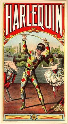 Harlequin vintage poster