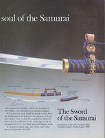Franklin Mint Sword of the Samurai 1987 Ad Picture