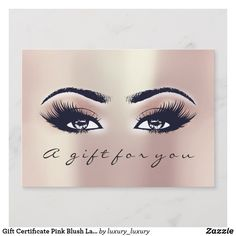 gift certificate pink blush lash beauty makeup - Eyelash Extension Gift Certificate Template