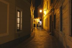 Evening walk in the Old Town of - impossible not to fall in love Bratislava, Old Town, Falling In Love, Old Things, Night, Old City, Infatuation
