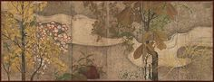 Rimpa School. Autumn Trees and Grasses by a Stream, 1615–1868. Japanese.The Metropolitan Museum of Art, New York. Rogers Fund, 1915 (15.127)