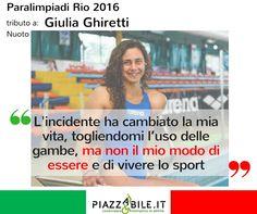 Giulia Ghiretti Nuoto Atleta Italia paralimpiadi Rio 2016 piazzabile.it